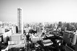 A Birds Eye View of Bangkok, Thailand (Black and White Photo) Posters by De Visu