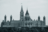 Parliament Hill Building in Black and White in Ottawa, Canada Photographic Print by Songquan Deng