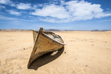 Boat in the Desert, Paracas National Reserve, Peru Photographic Print by  xura
