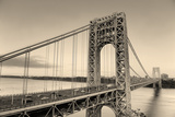 George Washington Bridge Black and White over Hudson River. Photographic Print by Songquan Deng