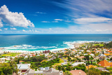 Seaside of Cape Town, Beautiful Coastal City in the Africa, Panoramic Landscape, Modern Buildings, Photographic Print by Anna Omelchenko