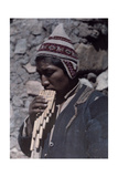 """A Man from the Quichua Tribe Plays Music from His """"Pipes of Pan"""" Photographic Print by Jacob J. Gayer"""