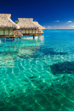 Water Villas over Tropical Coral Reef Photographic Print by Martin Valigursky