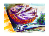 Fishes Prints by  KUCO