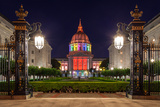 San Francisco City Hall in Rainbow Colors Photographic Print by  nstanev