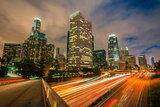 Downtown of Los Angeles at Night Photographic Print by  sborisov