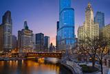 Chicago Riverside. Fotografisk trykk av  rudi1976