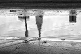Empire State Building Reflection in Puddle Photo