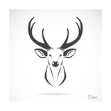 Vector Image of an Deer Head Premium Giclee Print by  yod67