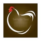 Vector Image of an Hen Premium Giclee Print by  yod67