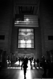 American Flag in Grand Central Station Foto
