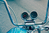 Handlebars and Gauges on Harley Davidson Photo
