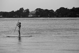 Surfer Paddling Shelter Island NY Poster