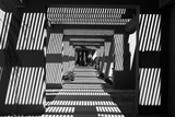 Black and White Walkway Scottsdale Arizona Photo