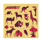 Animals Set Prints by vector pro