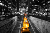 Taxi Timelapse NYC Prints