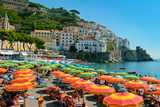 Colorful View of Almafi Coast Italy Posters