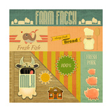 Farm Fresh Organic Products Posters by  elfivetrov
