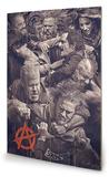 Sons of Anarchy - Fight Panneau en bois