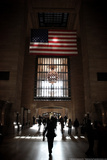 Gramd Central Station American Flag NYC Photo