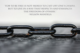 Nelson Mandela Freedom Quote Photo