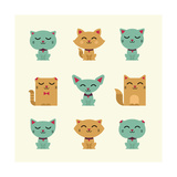Vector Cats Prints by vector pro