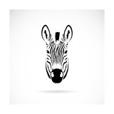 Vector Image of an Zebra Head Premium Giclee Print by  yod67