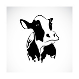 Vector Image of an Cow Premium Giclee Print by  yod67