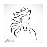 Vector Image of an Horse Premium Giclee Print by  yod67