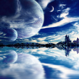 Collage - Landscape in Fantasy Planet Photographic Print by  frenta