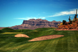 Golf Course at Foot of Mountain Range Scottsdale Arizona Photo
