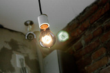 Coffee Shop Light Fixture West Village NYC Photo