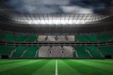 Digitally Generated Nigerian National Flag against Large Football Stadium Photographic Print by Wavebreak Media Ltd