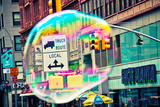 Bubble Floating in NYC Photo
