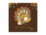 Happy Thanksgiving Beautiful Turkey Card Posters by Alisa Foytik
