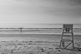 Lone Surfer Newport Rhode Island B/W Photo