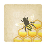 Bee Honeycomb Old Background Posters by  natbasil