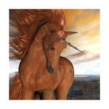 Burnt Sky Unicorn Premium Giclee Print by Corey Ford