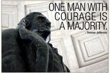 Thomas Jefferson Courage Quote Posters