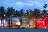 Miami Beach Florida at Sunset Photographic Print by  Fotomak