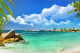 Tropical Paradise - Seychelles Islands, Panoramic View Photographic Print by  Maugli-l