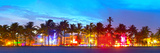 Miami Beach Florida Hotels and Restaurants at Sunset Photographic Print by  Fotomak