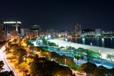 Night View of Botafogo Beach Print by  dabldy