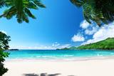 Beach Takamaka, Mahe Island, Seychelles Photographic Print by Iakov Kalinin