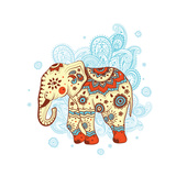 Ethnic Elephant Prints by  transiastock