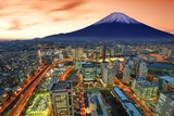 View of Yokohama and Mt. Fuji in Japan. Photographic Print by  SeanPavonePhoto
