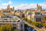 Madrid Cityscape and Aerial View of of Gran via Shopping Street, Spain Photographic Print by  Zechal