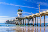 The Huntington Beach Pier Photographic Print by  Wolterk