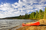 Red Canoe on Beach at Lake of Two Rivers, Ontario, Canada Posters by  elenathewise