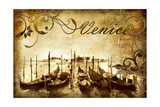 Venetian Pictures - Artwork in Retro Style Print by  Maugli-l